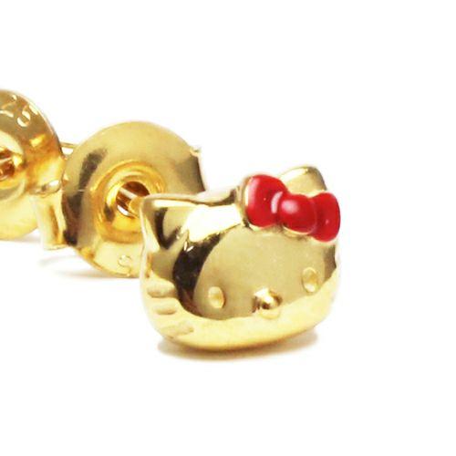 ピアス / ハローキティ/Hello Kitty フェイスピアス レディース ゴールド 両耳 シンプル 人気 おすすめ ブランド プレゼント 誕生日 ギフト コラボ サンリオ