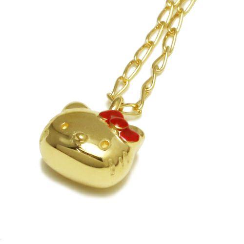 ネックレス / ハローキティ/Hello Kitty フェイスネックレス コラボ サンリオ レディース ゴールド レディース 人気 ブランド おすすめ プレゼント ファングッズ