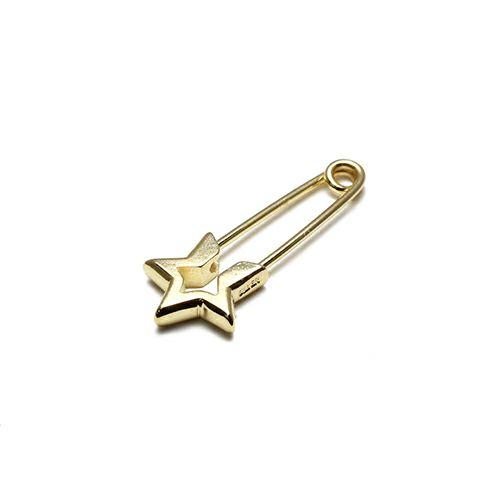 ピアス / スター&セーフティピンピアス メンズ レディース シルバー 925 ゴールド 安全ピン 片耳 シンプル 人気 おすすめ ブランド プレゼント 誕生日 ギフト