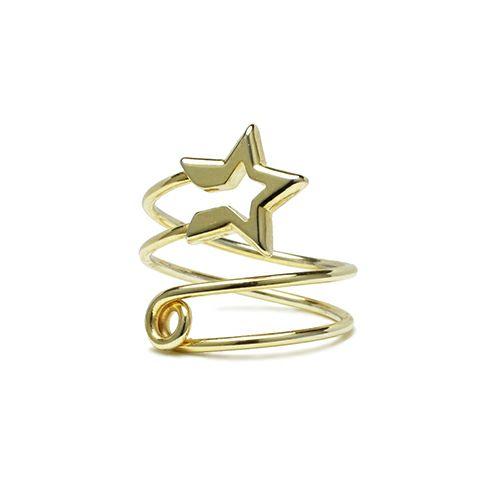 【JAM HOME MADE(ジャムホームメイド)】スター&セーフティピンリング / 指輪レディース メンズ ピンキー シルバー ダイヤモンド 人気 おすすめ ブランド ギフト プレゼント クリスマス オリジナル 安全ピン アクセサリー