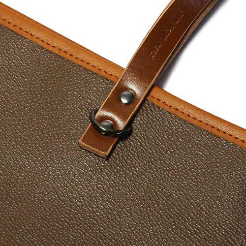 旅行用カバン / ブラックライドトートバッグ S -BROWN- メンズ ユニセックス 人気 おすすめ ブランド シンプル PVC 防水 革