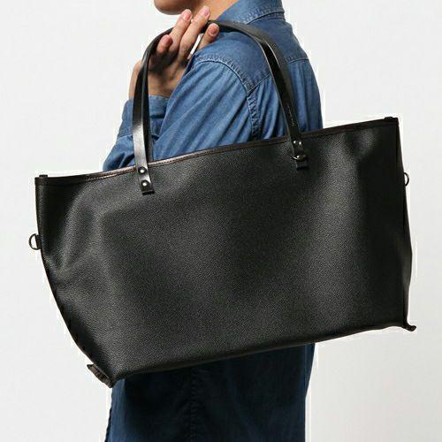 旅行用カバン / ブラックライドトートバッグ S -BLACK- メンズ ユニセックス 人気 おすすめ ブランド シンプル PVC 防水 革