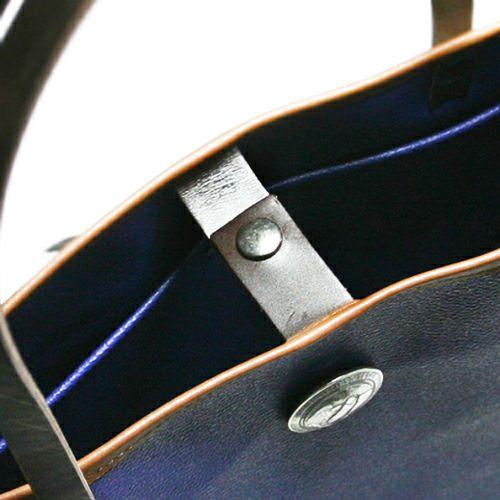 【JAM HOME MADE(ジャムホームメイド)】コンチョブラックライドトートバック -NAVY- メンズ ユニセックス 人気 おすすめ ブランド シンプル PVC 防水 革