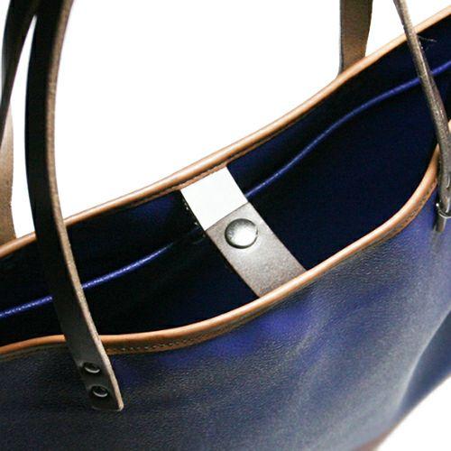 【JAM HOME MADE(ジャムホームメイド)】ブラックライドトートバック M -NAVY- メンズ ユニセックス 人気 おすすめ ブランド シンプル PVC 防水 革