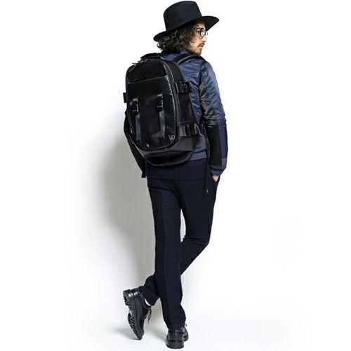 旅行用カバン / SEVESKIG/セヴシグ レザーバックパック -BLACK- / リュック メンズ 革 色 リュックサック デイパック 旅行 アウトドア