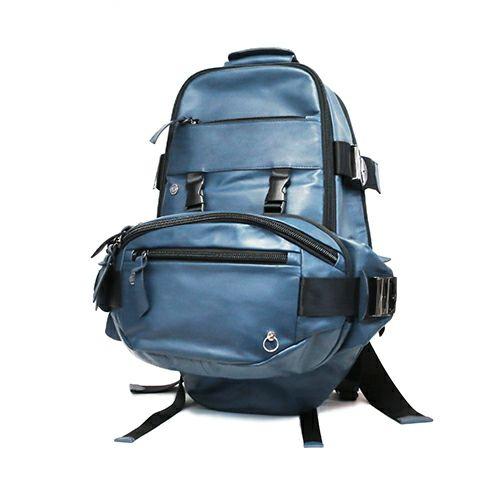 旅行用カバン / SEVESKIG/セヴシグ レザーバックパック -BLUE- / リュック メンズ 革 色 リュックサック デイパック 旅行 アウトドア