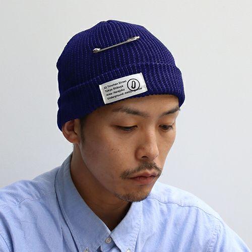 CA4LA/カシラ JAM SHOP ニットキャップ -NAVY- / 洋服小物