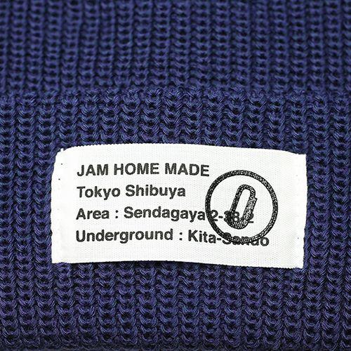 【JAM HOME MADE(ジャムホームメイド)】CA4LA/カシラ JAM SHOP ニットキャップ -NAVY- メンズ レディース ユニセックス 人気 おすすめ ブランド 帽子 コラボ オールシーズン対応