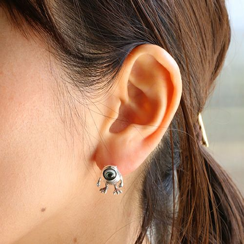 ピアス / モンスターズ・ユニバーシティ マイク / ピアス -SILVER- メンズ レディース シルバー 925 片耳 シンプル 人気 おすすめ ブランド プレゼント 誕生日 ギフト コラボ ディズニー モンスターユニバーシティ