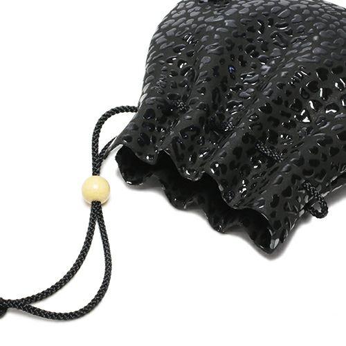 印傳屋(印伝屋) 巾着 -LEOPARD-
