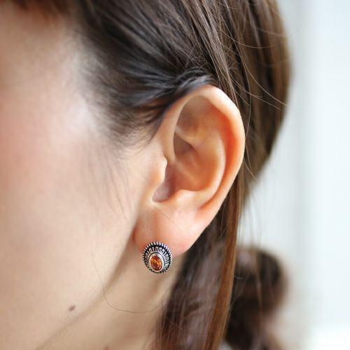 11月 誕生石 0010ハイブリッドカレッジピアス / 片耳