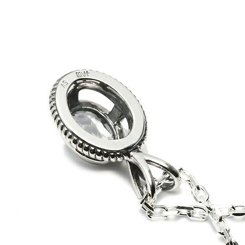 【ジャムホームメイド(JAMHOMEMADE)】4月 誕生石 スケルトン カレッジリング ネックレス M