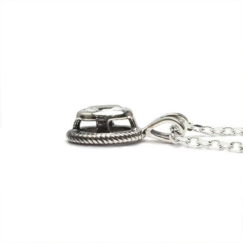 【ジャムホームメイド(JAMHOMEMADE)】4月 誕生石 スケルトン カレッジリング ネックレス S