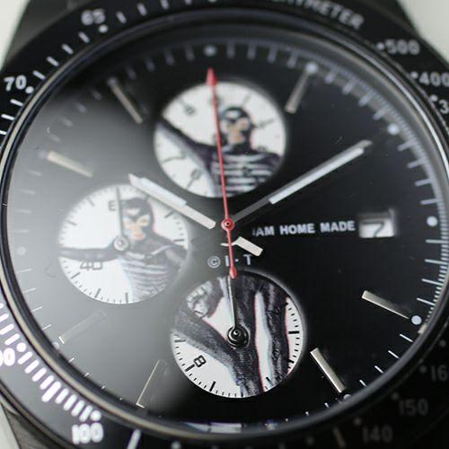 【JAM HOME MADE(ジャムホームメイド)】仮面ライダー シークレットショッカーウォッチ -SILVER- / 腕時計 メンズ 色 シルバー コラボ クロノグラフ クォーツ 10気圧