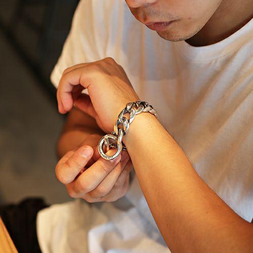 ブレスレット / クラシックブレスレット -BLACK DIAMOND- メンズ シルバー 925 職人 ボリューム ごつめ ブランド 人気 おすすめ チェーン シンプル