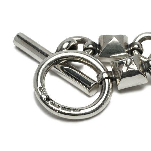 【JAM HOME MADE(ジャムホームメイド)】JAMスタッズブレスレット -BLACK DIAMOND- メンズ シルバー 925 職人 ボリューム ごつめ ブランド 人気 おすすめ チェーン シンプル