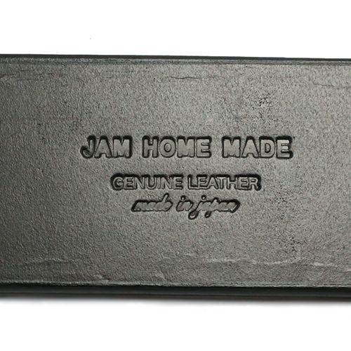 【JAM HOME MADE(ジャムホームメイド)】レザーダブルブレスレット メンズ レディース 牛革 ブラック シンプル ボリューム 太め 人気 おすすめ ブランド ギフト プレゼント 夏 秋 腕周り