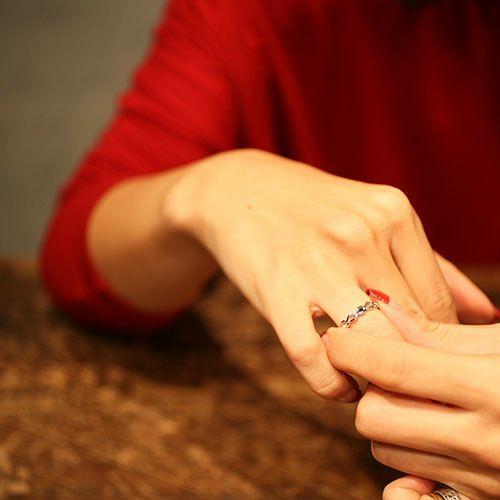 【JAM HOME MADE(ジャムホームメイド)】ティアーズエタニティリング S -SILVER- レディース シルバー ダイヤモンド ペア 人気 おすすめ ブランド ギフト プレゼント クリスマス モチーフ 涙の形