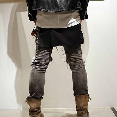 スカート / モンスターキルトファブリック -BLACK-