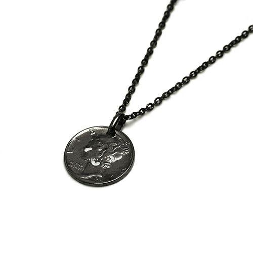 ネックレス / とんぼせんせい スマイルコインネックレス M -BLACK-
