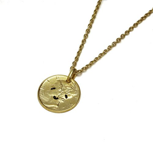 とんぼせんせい スマイルコインネックレス M -GOLD- / ネックレス