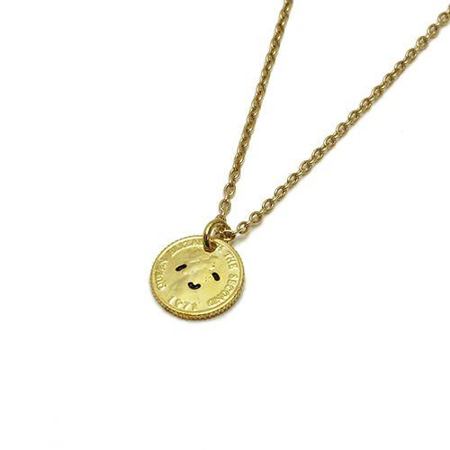 とんぼせんせい スマイルコインネックレス S -GOLD-