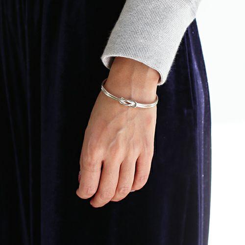 ブレスレット / 本結びバングル S メンズ レディース ペア シルバー 925 ブランド 人気 おすすめ シンプル 細め 願掛け ギフト プレゼント 記念日