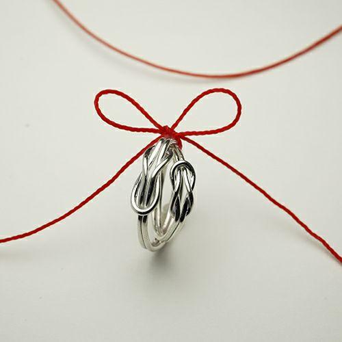 【JAM HOME MADE(ジャムホームメイド)】本結びリング M / 指輪 メンズ レディース シルバー ペア 人気 おすすめ ブランド ギフト プレゼント クリスマス オリジナル アクセサリー 願掛け 願い事