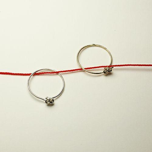 指輪 / 恋結びリング -SILVER- レディース シルバー 華奢 人気 おすすめ ブランド ギフト プレゼント クリスマス オリジナル アクセサリー 願掛け