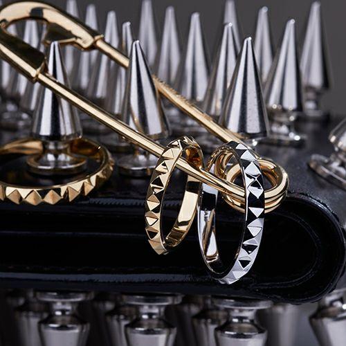 結婚指輪・マリッジリング ウエディングリング / フルエターナルスタッズマリッジリング M -K18YELLOWGOLD-