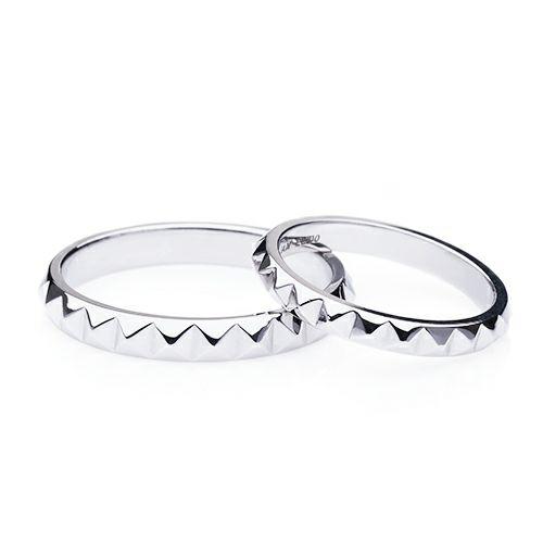 【JAM HOME MADE(ジャムホームメイド)】フルエターナルスタッズマリッジリング M -PT900- / 結婚指輪・マリッジリング ウエディングリング