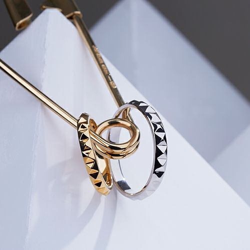 【JAM HOME MADE(ジャムホームメイド)】フルエターナルスタッズマリッジリング S -PT900- / 結婚指輪・マリッジリング ウエディングリング