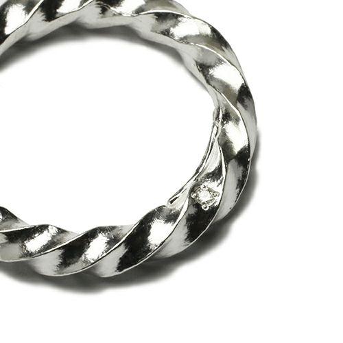 指輪 / オンラインショップ限定 クルクルリング M メンズ シルバー ダイヤモンド ペア 人気 おすすめ ブランド ギフト プレゼント クリスマス オリジナル アクセサリー