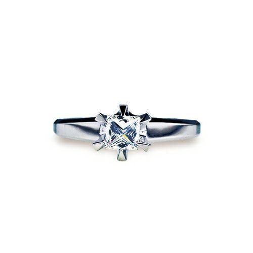 スタッズダイヤモンドエンゲージリング 4mm -PT900- / 婚約指輪・エンゲージリング