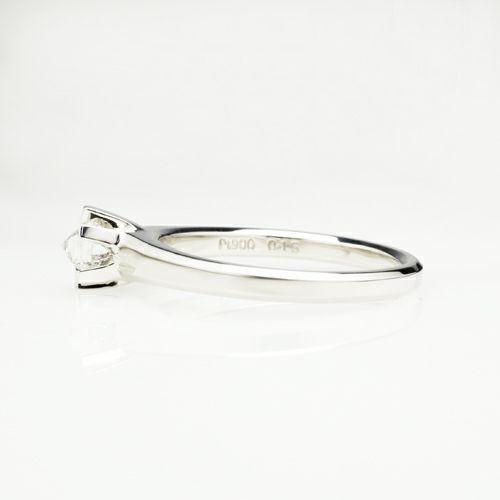 【JAM HOME MADE(ジャムホームメイド)】スタッズダイヤモンドエンゲージリング 3mm -PT900-  / 婚約指輪・エンゲージリング ウエディングリング