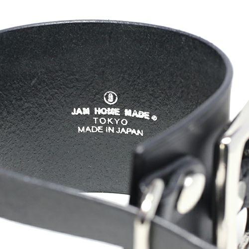 【JAM HOME MADE(ジャムホームメイド)】POST レザーダブルブレスレット -BLACK- メンズ レザー イタリアンレザー 人気 ブランド 太め おすすめ バックル リスシオ ロットン ギフト プレゼント