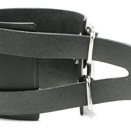 POST レザーダブルブレスレット -BLACK- / ブレスレット ・ バングル
