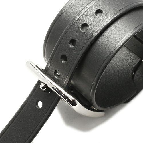 ブレスレット / POST レザーシングルブレスレット -BLACK- メンズ レザー イタリアンレザー 人気 ブランド 太め おすすめ バックル リスシオ ギフト プレゼント