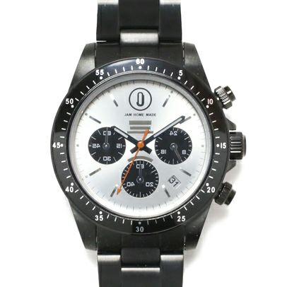 【JAM HOME MADE(ジャムホームメイド)】ダイヤモンドジャムウォッチ TYPE C timeless -BLACK- / 腕時計 メンズ 色 ブラック クロノグラフ クォーツ 10気圧 コラボ サイボーグ009