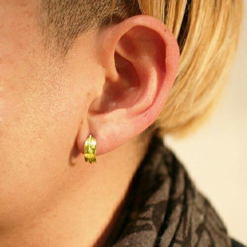 ピアス / ダイヤモンドフェザーピアス -K18YELLOWGOLD- メンズ ゴールド ブランド おすすめ 人気 誕生日 プレゼント ギフト 片耳 羽 モチーフ ネイティブ