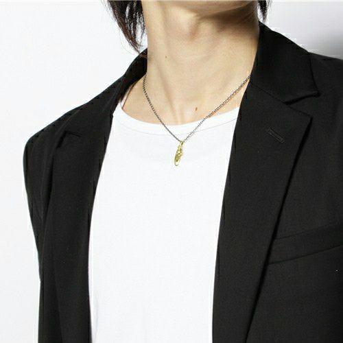 フェザー&ダイヤモンドネックレス S -K18YELLOWGOLD- / ネックレス