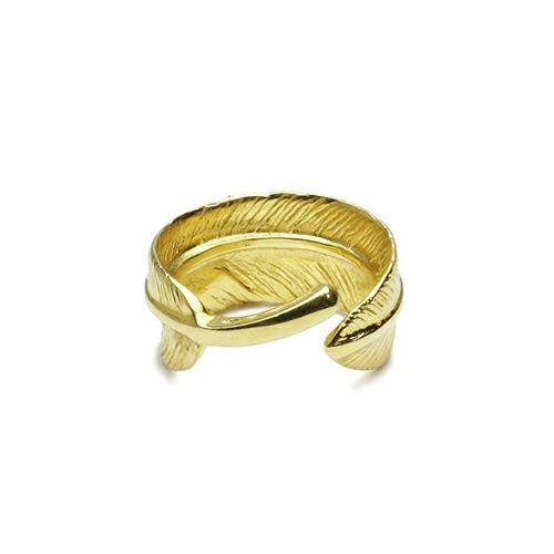 ダイヤモンドフェザーリング S -K18YELLOWGOLD- / 指輪