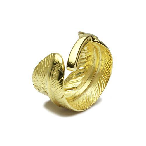 【JAM HOME MADE(ジャムホームメイド)】ダイヤモンドフェザーリング M -K18YELLOWGOLD- / 指輪 メンズ 18金 人気 ダイヤモンドダイヤモンド ブランド おすすめ 羽 ネイティブ モダン