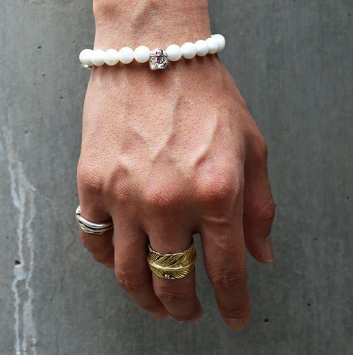 指輪 / ダイヤモンドフェザーリング M -K18YELLOWGOLD- メンズ 18金 人気 ダイヤモンドダイヤモンド ブランド おすすめ 羽 ネイティブ モダン