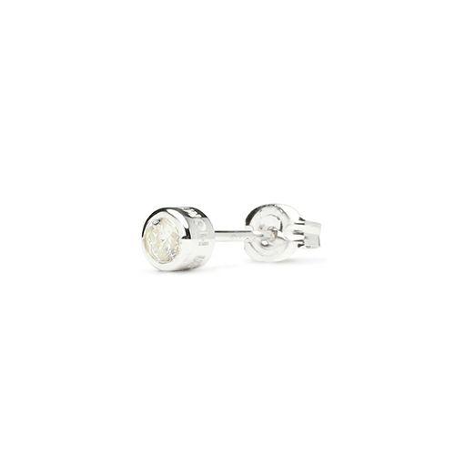 ダイヤモンドモダンピアス 3mm -CLEAR DIAMOND- / 片耳 / ピアス・イヤーカフ
