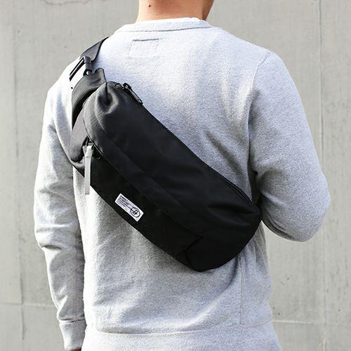 【JAM HOME MADE(ジャムホームメイド)】nonmetal ショルダーボディバッグ  -BLACK - メンズ レディース ユニセックス 肩掛け ウエストバック 人気 おすすめ ブランド