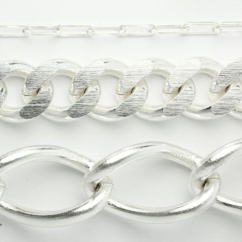 ブレスレット / はじめてのブレスレット M (3点セット) メンズ レディース ペア シルバー チェーン シンプル 重ね付 ごつめ 安い ブランド おすすめ 服を着るならこんなふうに