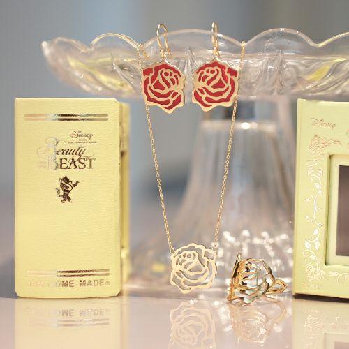 【JAM HOME MADE(ジャムホームメイド)】ディズニーアニメーション『美女と野獣』のローズカットネックレス レディース ゴールド 人気 ブランド おすすめ ギフト プレゼント 誕生日 バラ ディズニー プリンセス ベル
