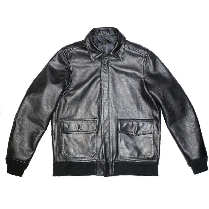 【JAM HOME MADE(ジャムホームメイド)】AG3 レザージャケット メンズ レザー ブラック アウター A-2 G-1 Steve McQueen(スティーブ・マックイーン) The Great Escape(大脱走) ボア フライトジャケット S M L XL