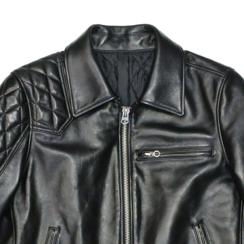 """【ジャムホームメイド(JAMHOMEMADE)】レザー ライダースジャケット """"LEWISON"""""""